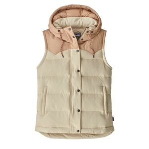 NWT! Patagonia Bivy hooded vest oyster white pink